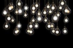 Idea de la luz de poder de las bombillas y de las lámparas Fotografía de archivo