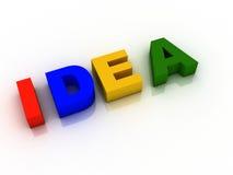 Idea de la palabra Imagen de archivo libre de regalías