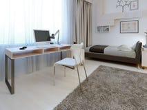 Idea de la zona de trabajo en el dormitorio Fotos de archivo libres de regalías