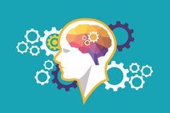 Idea de pensamiento del cerebro Imagen de archivo libre de regalías