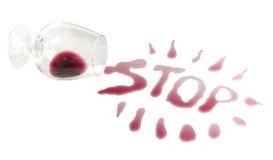 Idea de prevenir del alcohol de consumición Foto de archivo libre de regalías