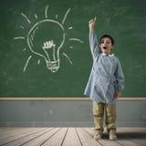 Idea de un niño feliz Imagen de archivo libre de regalías