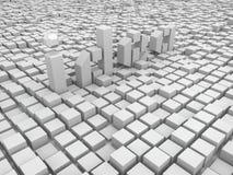Idea dei cubi Immagine Stock