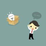 Idea del abandono stock de ilustración