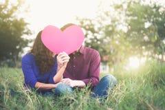 Idea del amor, del romance y de Valentine Concept Fotografía de archivo libre de regalías