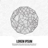 Idea del bosquejo del símbolo del poliedro Fotografía de archivo