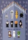Idea del carácter del fantasma de los temas de Halloween Imagen de archivo libre de regalías