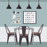 Idea del comedor Imagen de archivo libre de regalías