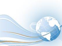 Idea del concepto del vector de la conexión global ilustración del vector