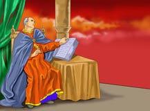Idea del cristiano del calendario de Santo santa Imágenes de archivo libres de regalías