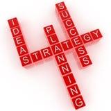 Idea del crucigrama, estrategia, hojas de operación (planning), éxito Foto de archivo libre de regalías