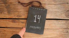 Idea del día de tarjetas del día de San Valentín - 14 de febrero inscripción almacen de video