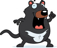 Idea del diavolo tasmaniano del fumetto Fotografia Stock Libera da Diritti