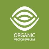 Idea del diseño del logotipo de la agricultura biológica ilustración del vector