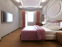 Idea del dormitorio principal ecléctico Fotografía de archivo