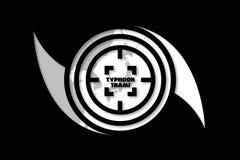Idea del ejemplo para el tifón Trami que apunta Japón ilustración del vector