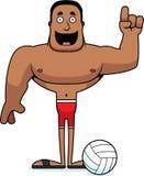 Idea del giocatore di beach volley del fumetto Illustrazione Vettoriale