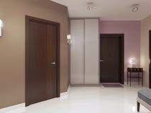 Idea del hall de entrada minimalista Imagen de archivo