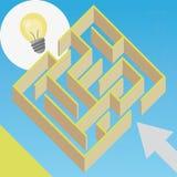 Idea del labirinto Immagine Stock Libera da Diritti