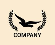 Idea 1 del logotipo del pájaro de mar Imágenes de archivo libres de regalías
