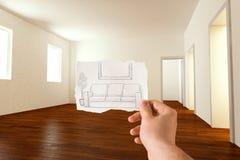 Idea del mobiliario Foto de archivo libre de regalías