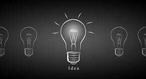 Idea del negocio de la bombilla Imagen de archivo