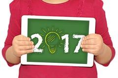 2017 - idea del nuovo anno Fotografie Stock Libere da Diritti