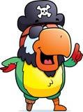 Idea del pappagallo del pirata Fotografia Stock Libera da Diritti