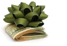 Idea del regalo dei soldi Fotografie Stock