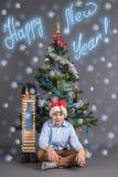 Idea del ` s del Año Nuevo de la escuela del ` s de los niños Fotos de archivo