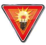Idea del segno e lampadina Immagini Stock Libere da Diritti