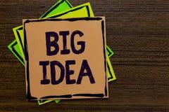 Idea del testo di scrittura di parola grande Concetto di affari per avere la grande soluzione dell'innovazione o carta creativa d fotografia stock
