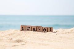 Idea del viaje para la playa Imagen de archivo libre de regalías