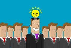 Idea dell'uomo di affari Fotografia Stock