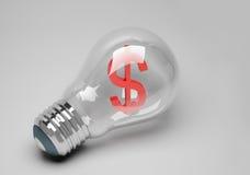 Idea della lampada dell'affare Fotografia Stock