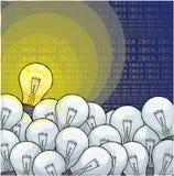Idea della lampadina Illustrazione di Stock