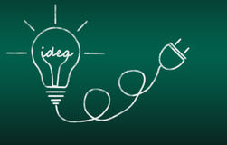 Idea della lampadina Immagine Stock