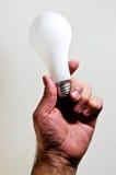 Idea della lampadina Fotografie Stock
