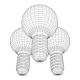 Idea della lampadina Vettore illustrazione vettoriale