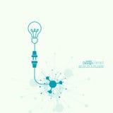 Idea della luce di lampadina illustrazione di stock