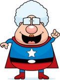 Idea della nonna del supereroe Fotografie Stock