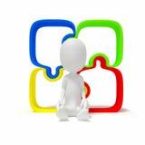 idea della soluzione di puzzle della gente 3d Immagini Stock Libere da Diritti