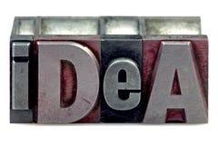 Idea dello scritto tipografico Fotografia Stock