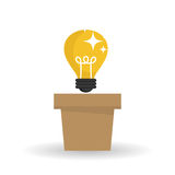 Idea design. bulb icon. solution concept Royalty Free Stock Images