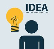 Idea design. Illustration eps10 Stock Photography