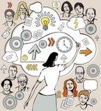 Idea di affari del presente della donna di affari Fotografie Stock Libere da Diritti