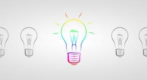 Idea di affari della lampadina Immagine Stock