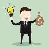 Idea di affari per reddito di affari Fotografia Stock Libera da Diritti