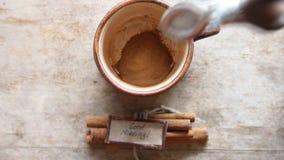 Idea di buongiorno - tazza di caffè stock footage