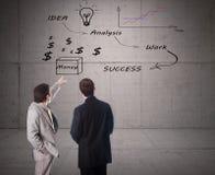 Idea di concetto dell'uomo d'affari immagini stock libere da diritti